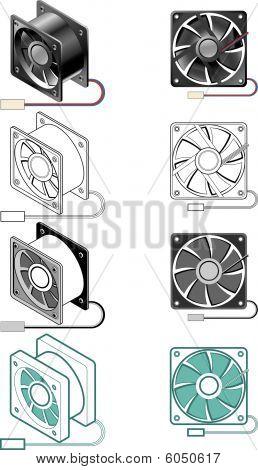 Computer case fan