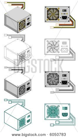 Computer power supply box