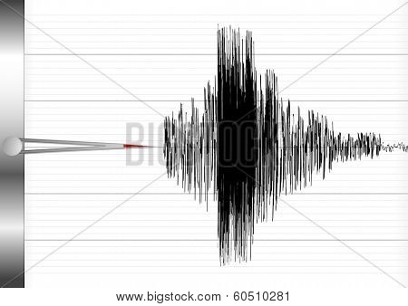 detailed illustration of a seismograph, eps10 vector