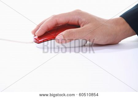 Hand Using Mouse Computer