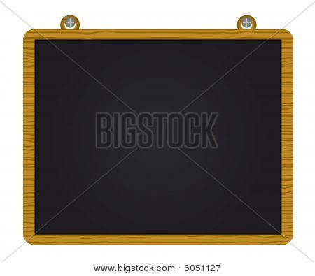 Wood blackboard