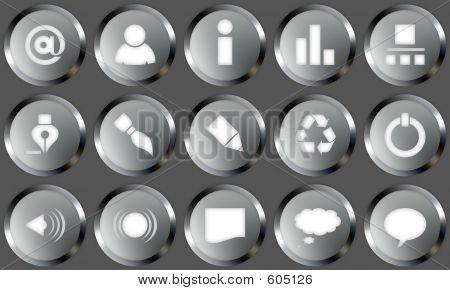 Metal Buttons Set