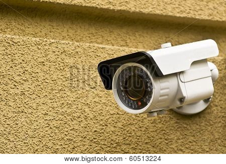 Camera On A Wall Of The House