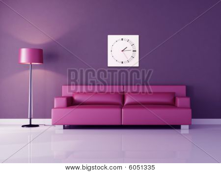 Purple And Pink Lounge
