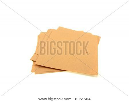 Yellow Pile Of Office Paper
