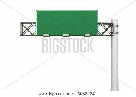 Empty Highway Sign .