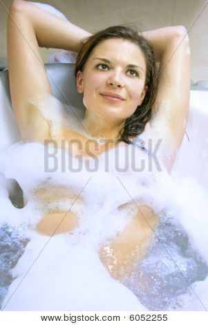 Pretty Woman In Jacuzzi