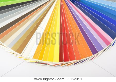 Palette of Colors isolated over white. Catalog of colors.