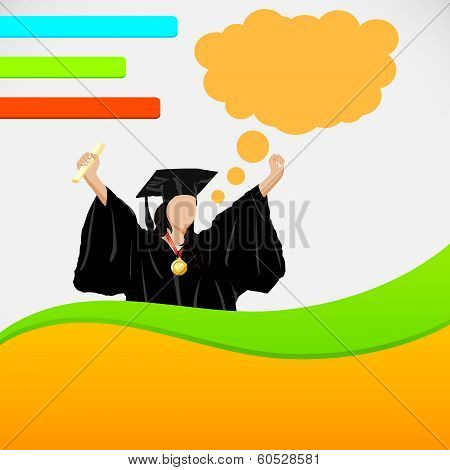 Lady in Graduation gown