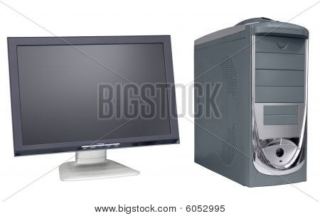 Computer devices. Computer and monitor.Peripheral devices.