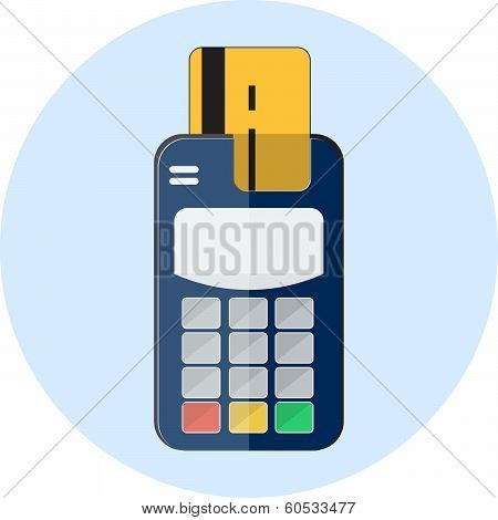 Flat credit card and card reader