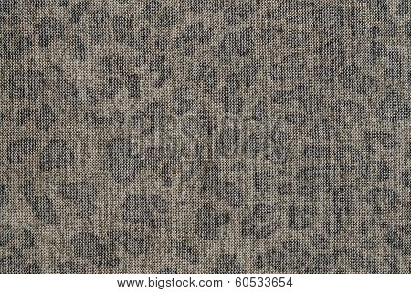 Spotty Texture Of Dark Knitted Fabric
