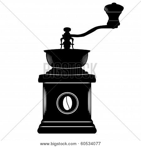 Coffee Grinder In Black And White Simple Style