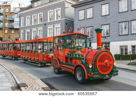 Road sightseeing train in Bergen
