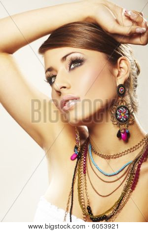 Fashion Woman With Jewelry