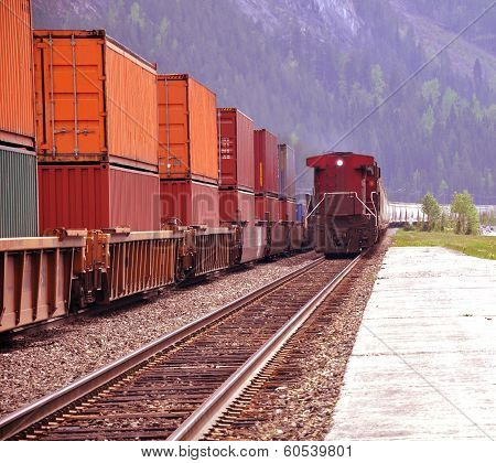 Two freight trains.