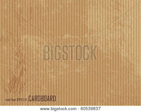 Corrugated cardboard texture - brown paper background
