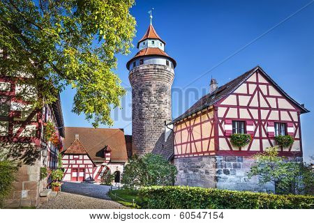 Nuremberg Castle in Nuremberg, Germany.