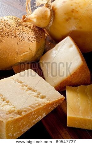 variety of italian cheese
