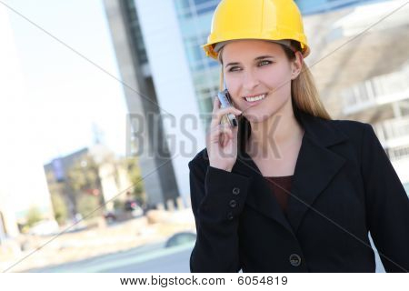 Pretty Construction Woman