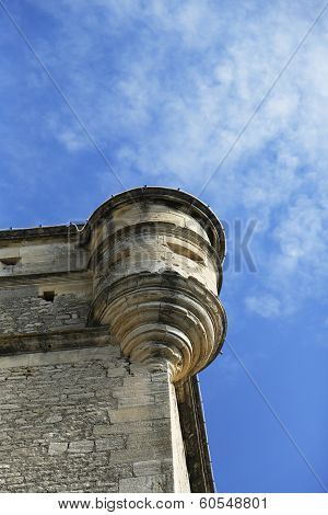Turret of the Gordes Castle in the Luberon, France