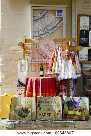 Souvenirs in local store in Gordes, France