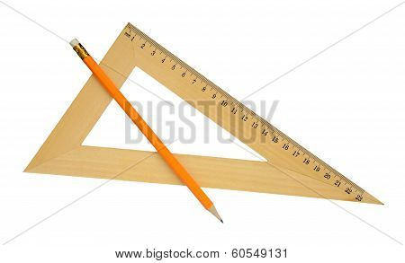 Ruler And Yellow Pencil