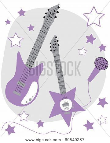 Purple Guitars