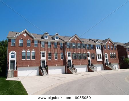 Town Homes With the Garage in the Front