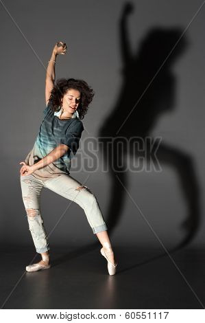 Woman In Pointes