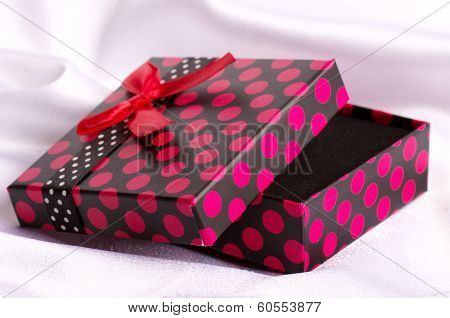 A beautiful gift box for jewelry on the background