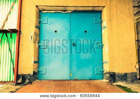 Old Industrial Building, A Closed Elevator Door