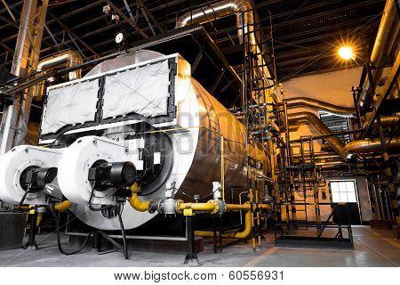 Modern Industrial Boiler, Industrial Building Interior