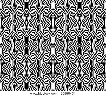 Seamless Floral Pattern. Rasterized Version