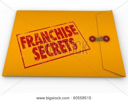 Franchise Secrets Yellow Envelope Classified Information Tips Advice