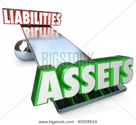 Assets Vs Liabilities Balance Determining Net Worth Money Wealth