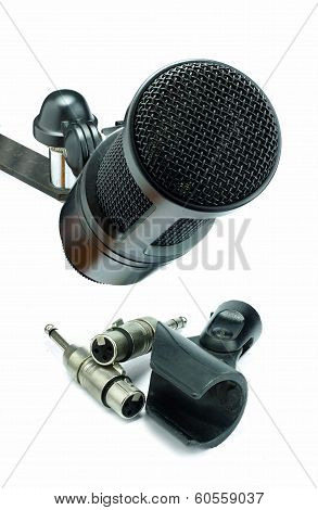 Condenser Microphone And Xlr Connector