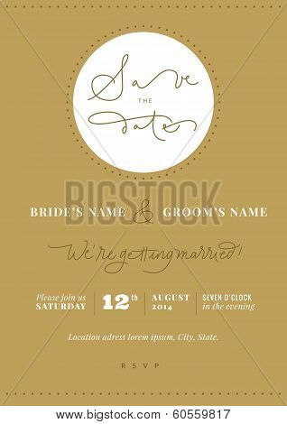 Hand written wedding invitation - Save the Date.