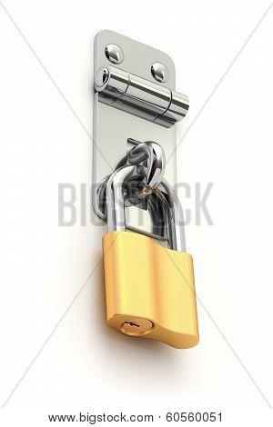 Iron metal latch