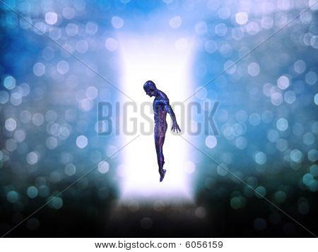 Figura en forma de puerta de luz