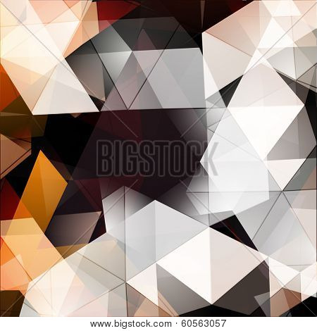 Abstract triangles background vector