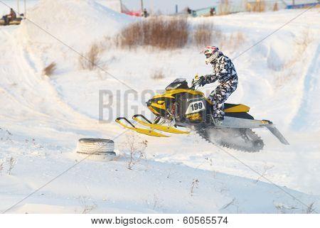 Sport snowmobile jump