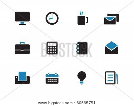 Business duotone icons on white background.