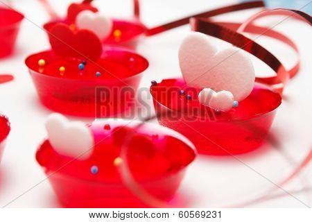 Valentine's Day Love Gelatin Deserts