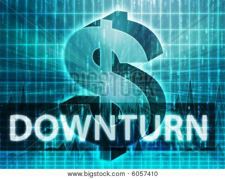 Downturn Finance Illustration