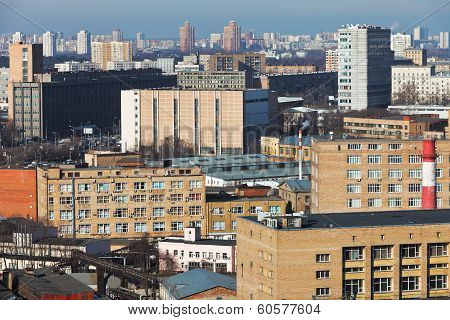 Skyline Of Residential District In Moscow