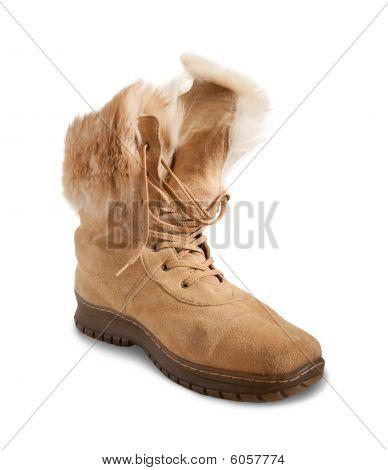 Beige Shammy Fur  Boot