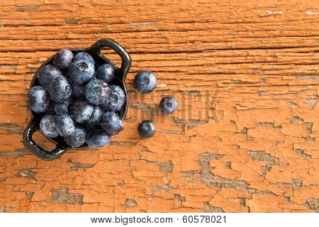 Ramekin Of Fresh Ripe Blueberries