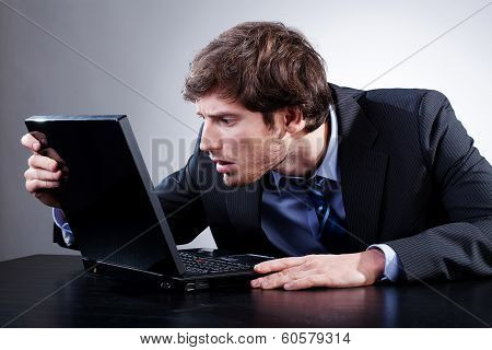 Man Staring At Screen