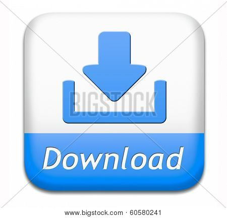 download button for music, video movie or data downloading pdf document file or ebook icon